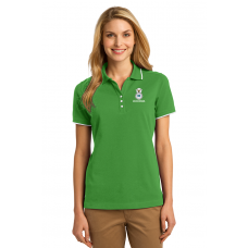 Ladies Rapid Dry Tipped Polo